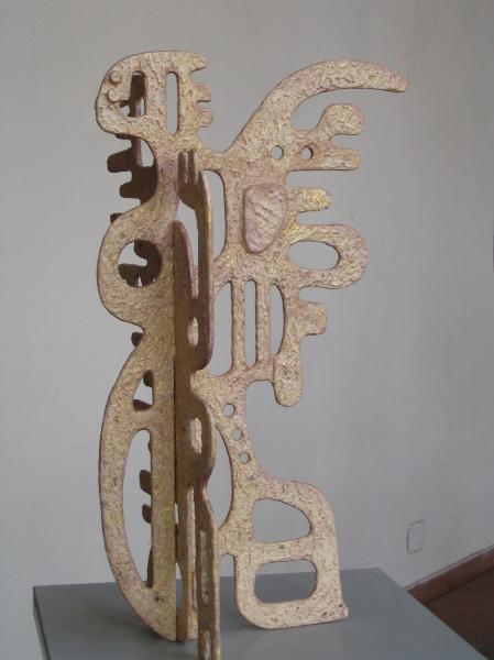 Angelo. 2007. Legno e carta vetrificata. h. cm. 100. Copyright  A. Cocchi ©2007
