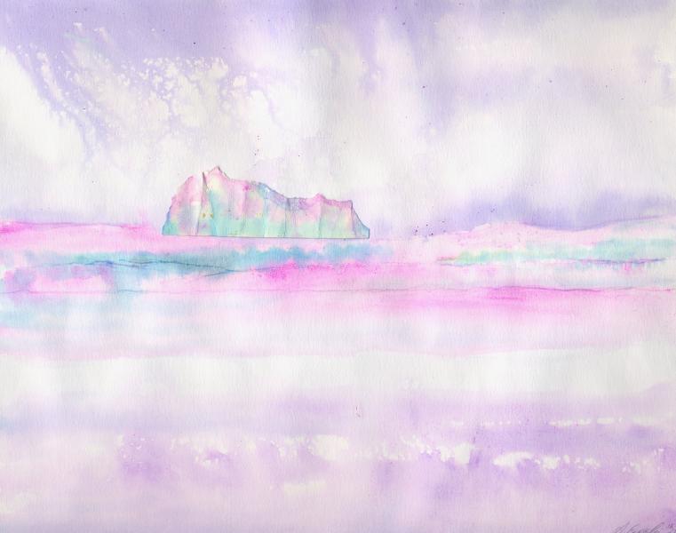 Aurora boreale. 1997. Inchiostri e collage su carta. cm. 39,5X40,3. Copyright  A. Cocchi ©1997