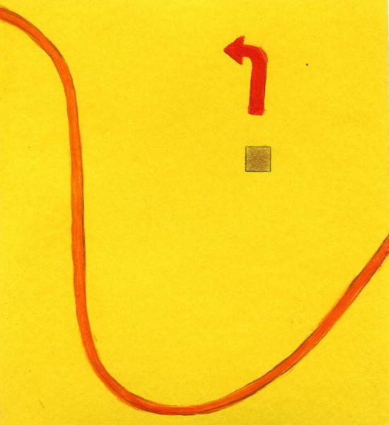 Cambiamento interiore. 2011. Acrilico, creta e acquarello. Cm. 7,5X6,7. Copyright A. Cocchi ©2011