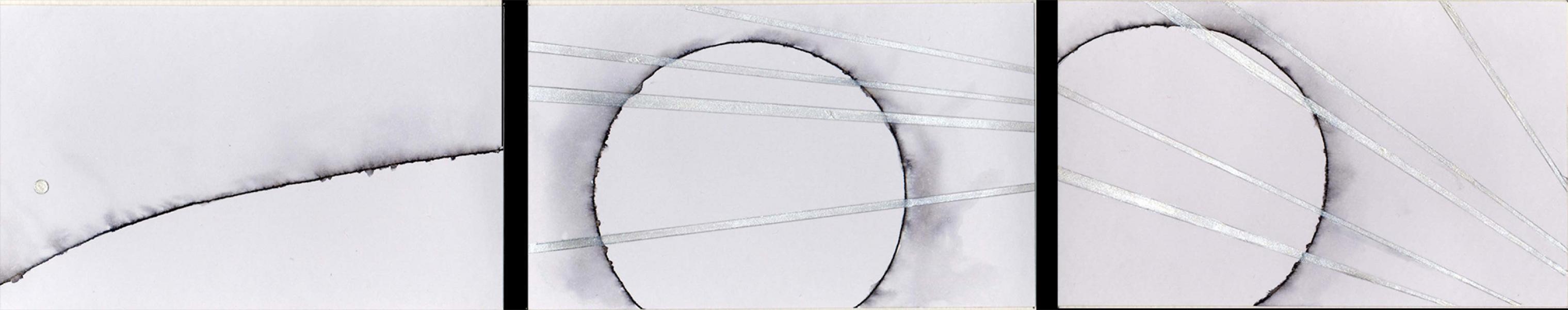 Emanazioni. 2010. China e acrilico si carta.  . Cm 6,5X32,5.  Copyright © A. Cocchi 2010