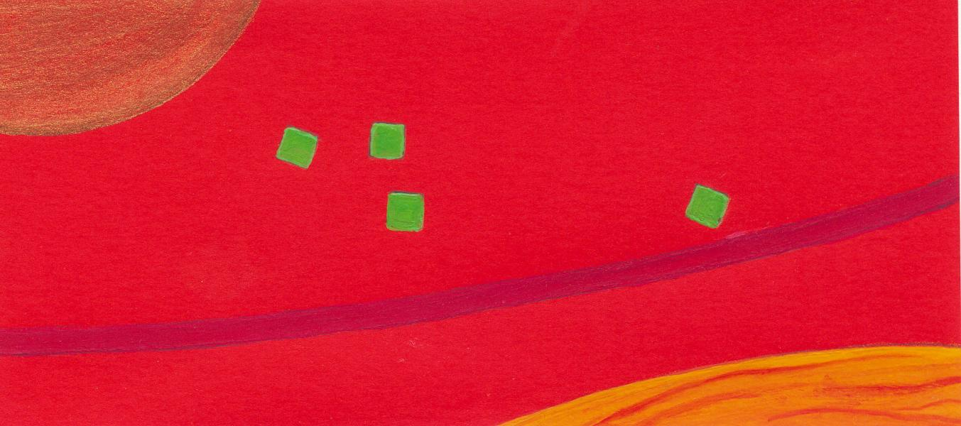 Esodo. 2007. Acrilico su carta. cm. 16,8X24,6. Copyright  A. Cocchi ©2007