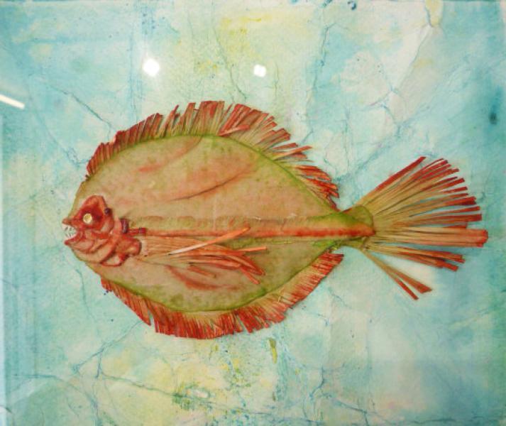 Fossile futuro. Verde-arancio-rosso. 1997. Collage, rilievo e inchiostri su carta. cm. 17,4X29. Copyright  A. Cocchi ©1997