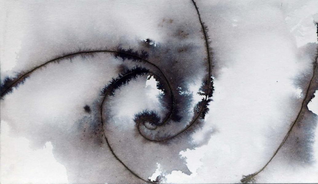 Galassia II. China e acrilico su carta. 2010 cm.5,8X10,3 Copyright © A. Cocchi 2010