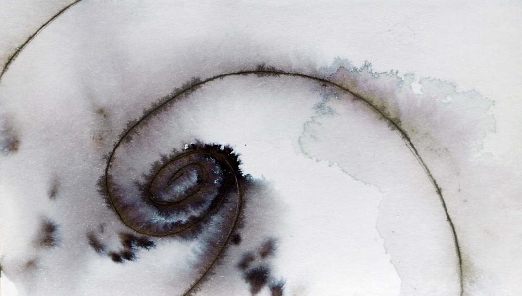 Galassia III. China e acrilico su carta. 2010 cm. 5,8X10,3 Copyright © A. Cocchi 2010