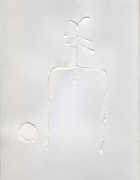 Gigante. 2000. Rilievo su carta. cm. 49X35,5. Copyright  A. Cocchi ©2000