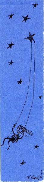 Gioco notturno. 2001. China su carta. cm. 29,7X21.  Copyright  A. Cocchi ©2001