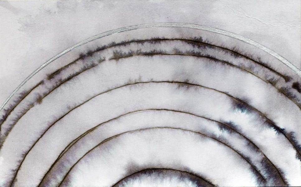Gravitazione. 2010. China e acrilico su carta.Cm. 6,5X10,5    Copyright © A. Cocchi 2010