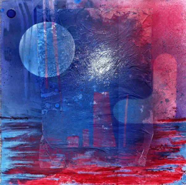 Il pianeta perduto. 2007. Tecnica mista su carta. cm. 55X55. Copyright  A. Cocchi ©2007
