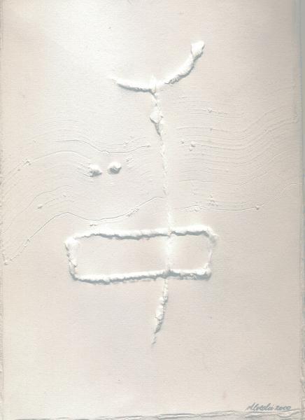 Il violino del vento. 2000. Rilievo su carta.  cm. 41,5X30.  Copyright  A. Cocchi © 2000.