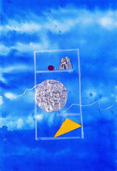 La dispensa della luna. 1998. Collage polimaterico su carta. Copyright  A. Cocchi ©1998