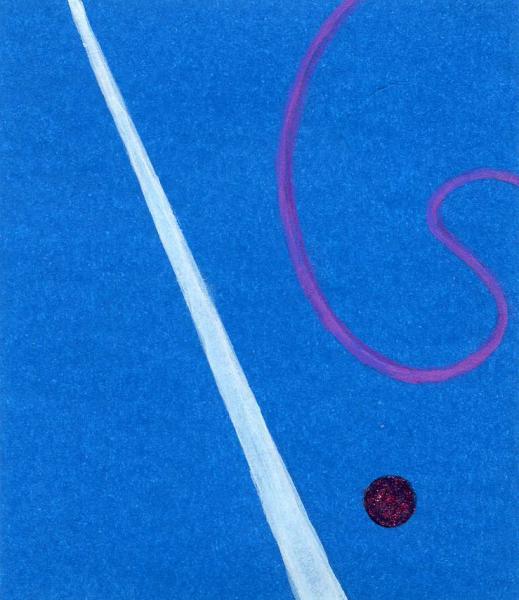 La follia della luna. 2011. Acrilico, creta e acquarello. Cm. 7,5X6,7. Copyright  A. Cocchi ©2011