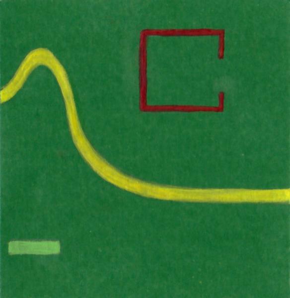 La speranza ritrovata. 2011. Acrilico, creta e acquarello. Cm. 7,5X6,7. Copyright A. Cocchi ©2011.