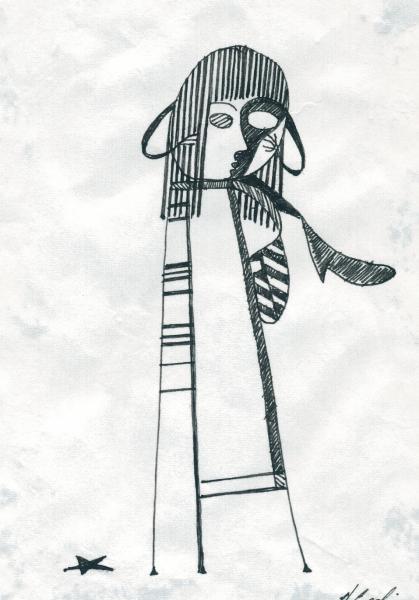 La stella nera di Licia. 2001. China su carta. cm.  29,5X21.  Copyright  A. Cocchi ©2001
