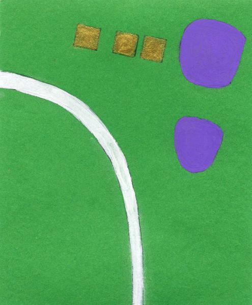 La via degli incontri. 2011. Acrilico, creta e acquarello. Cm. 7,5X6,7. Copyright  A. Cocchi ©2011