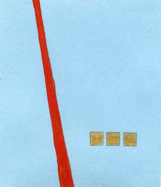 Le cose che contano. 2011. Acrilico, creta e acquarello. Cm. 7,5X6,7. Copyright  A. Cocchi ©2011