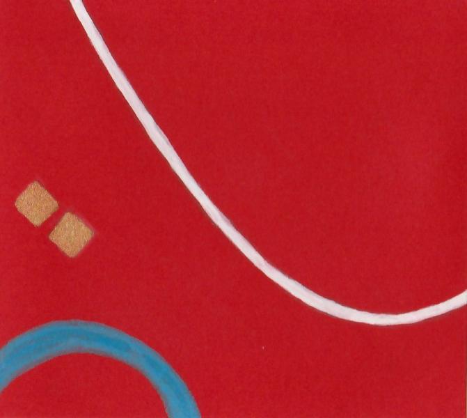 Le vaghe sembianze. 2011. Acrilico, creta e acquarello. Cm. 7,5X6,7. Copyright A. Cocchi ©2011.