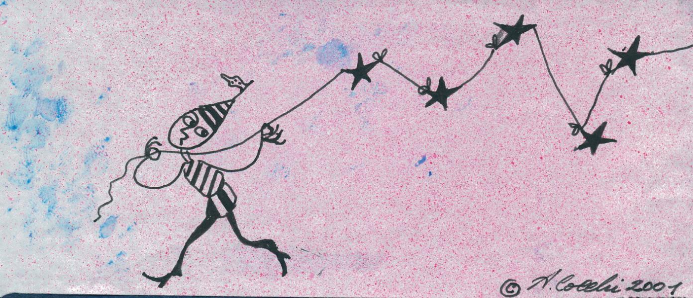 Legàmi. 2001. China su carta. cm.  cm. 16,3X23,2  Copyright  A. Cocchi ©2001