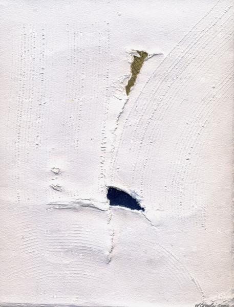 Narciso. 2000. Collage e rilievo su carta.   cm. 41,5X30.  Copyright  A. Cocchi © 2000