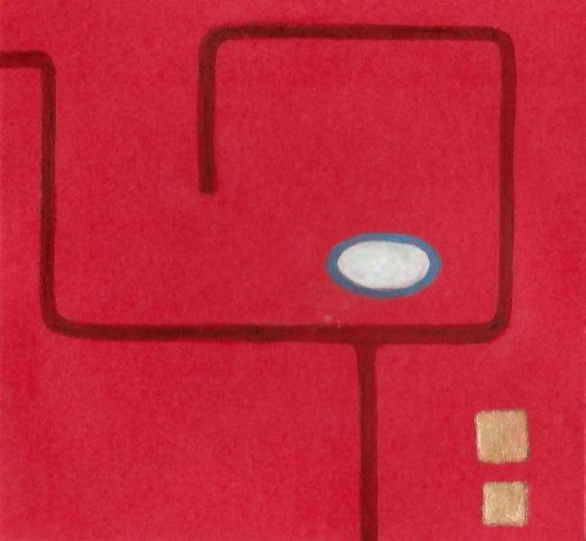 Natività. 2011. Acrilico, creta e acquarello. Cm. 7,5X6,7. Copyright A. Cocchi ©2011.
