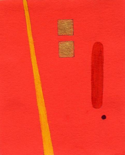 Passato e futuro. 2011. Acrilico, creta e acquarello. Cm. 7,5X6,7. Copyright  A. Cocchi ©2011