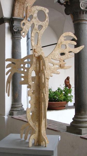 Pellicano. 2007. Legno e carta vetrificata. h. cm. 120. Copyright  A. Cocchi ©2007