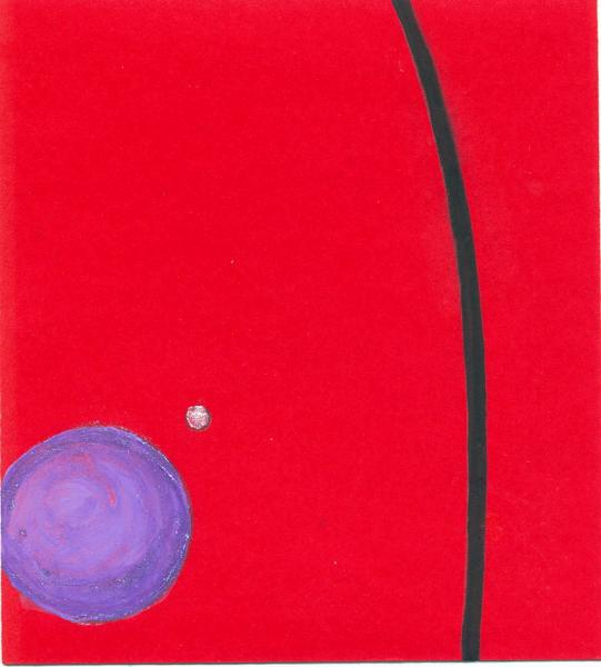 Pianeta. Indaco-blu. 2007. Acrilico su carta.  cm. 17,5X11,5. Copyright  A. Cocchi ©2007