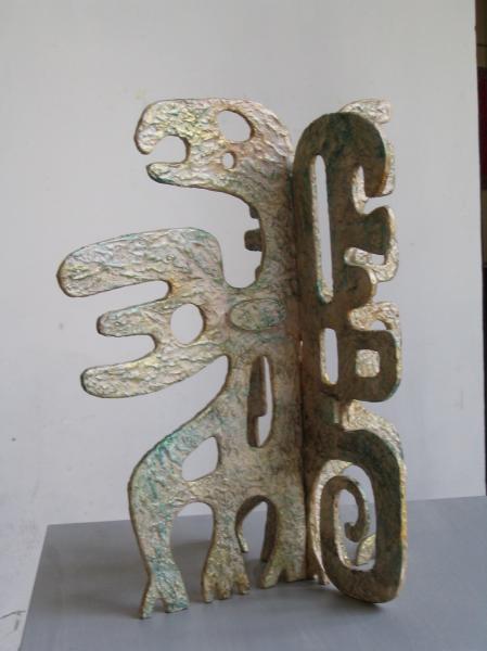 Piccolo drago. 2007. Legno e carta vetrificata. h. cm. 70. Copyright  A. Cocchi ©2007