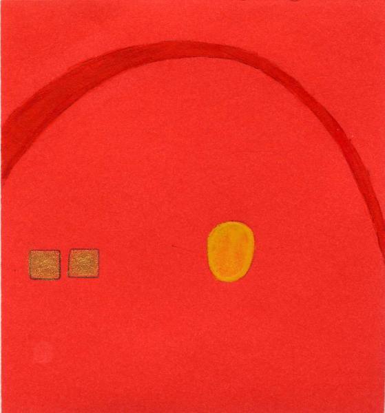 Ritrovarsi. 2011. Acrilico, creta e acquarello. Cm. 7,5X6,7. Copyright  A. Cocchi ©2011. Collezione privata
