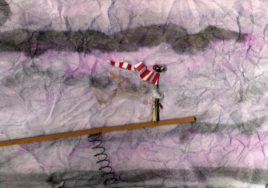 Spirito del vento. 1998. Collage polimaterico su carta. cm. 39,1X55. Copyright  A. Cocchi ©1998