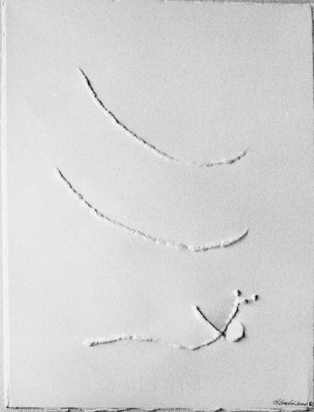 Spirito risvegliato da soffi di vento. 2000. rilievo su carta.  cm. 41,5X30.  Copyright  A. Cocchi © 2000