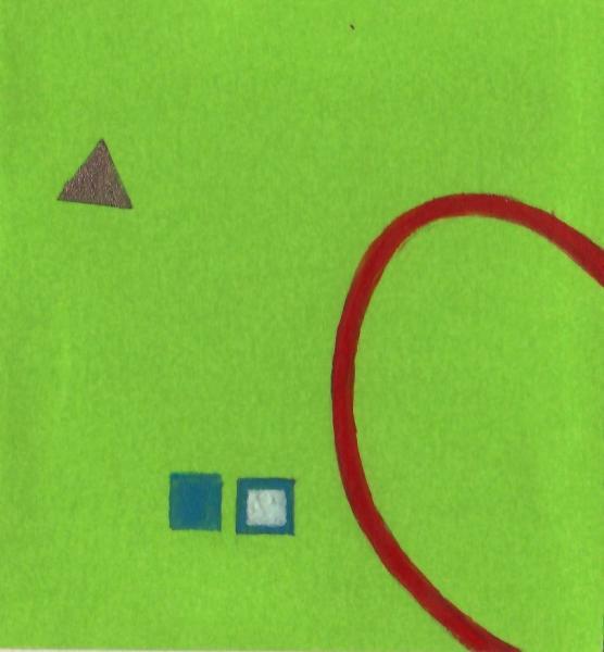 Un cambiamento importante. 2011. Acrilico, creta e acquarello. Cm. 7,5X6,7. Copyright A. Cocchi ©2011.