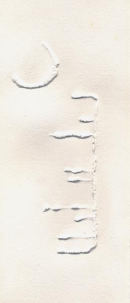 Un pettine per la luna II. Rilievo sui carta. 2002. cm. 39X22,5. Copyright  A. Cocchi ©