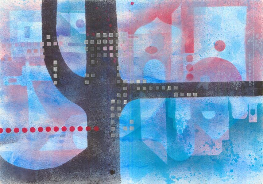 Viaggio nella memoria. 2006. Tecnica mista su carta. cm. 50,2X71,6. Copyright A. Cocchi ©2006