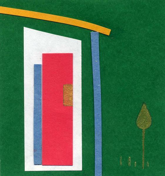 Vita nuova. 2011. Acrilico, creta e acquarello. Cm. 7,5X6,7. Copyright  A. Cocchi ©2011.